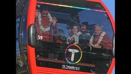 El nuevo teleférico de La Paz transportó a 57.000 personas en 2 días