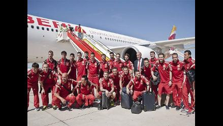Selección española dejó su país para buscar bicampeonato en Brasil 2014