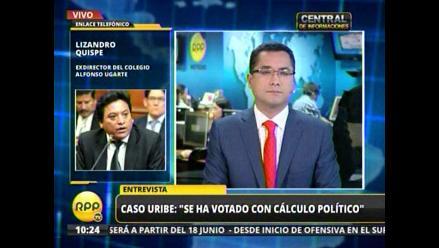 Exdirector del Alfonso Ugarte sobre Uribe: Se votó con cálculo político