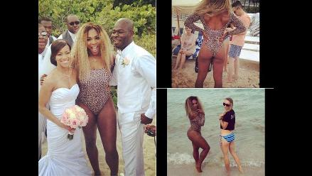 Serena Williams se equivoca e invade boda con un traje de baño
