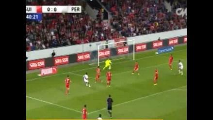 Mira la posibilidad más clara de gol que tuvo selección peruana ante Suiza