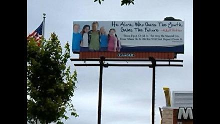 EEUU: Grupo cristiano usa cita de Hitler en cartel publicitario