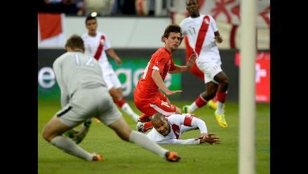 Cero goles: Perú pierde 2-0 con Suiza y culmina gira europea