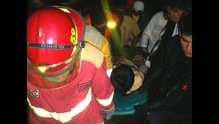 Cajamarca: dos muertos y siete heridos deja despiste de bus en Chota