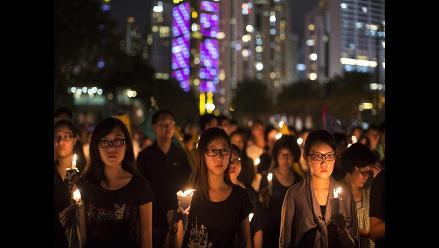 Más de 100.000 personas recuerdan la masacre de Tiananmen en Hong Kong