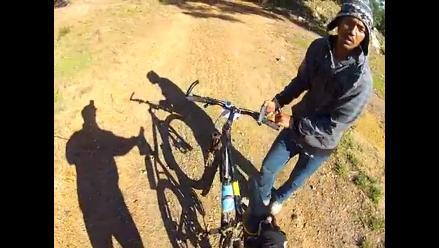 Ciclista graba asalto a mano armada con cámara GoPro