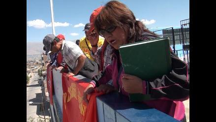 Huancayo: estatales toman local de la Drej como protesta