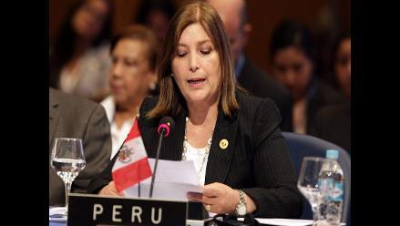 Eda Rivas resalta políticas de inclusión social en asamblea de la OEA
