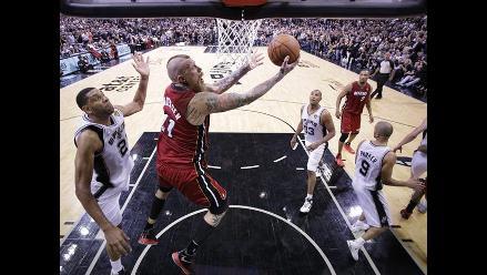 Finales NBA: Los Spurs se imponen 110 a 95 a los Heat en primer partido