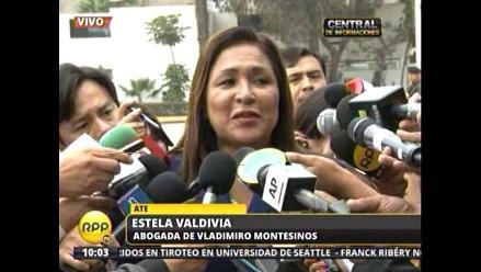 Estela Valdivia: La ley le prohíbe declarar a Montesinos