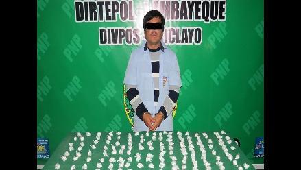 Chiclayo: detienen a peligroso microcomercializador de droga