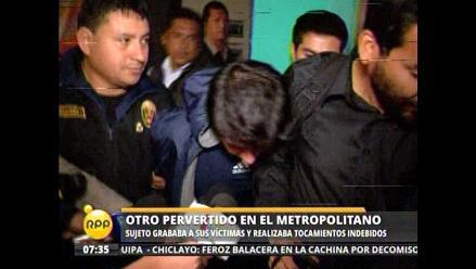 Detienen a otro agresor sexual en estación del Metropolitano
