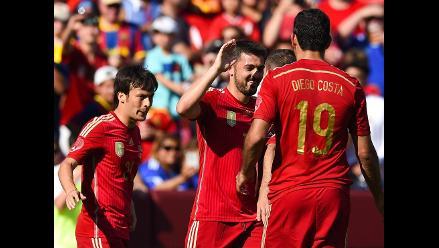 España venció 2-0 a El Salvador en último partido previo a Brasil 2014