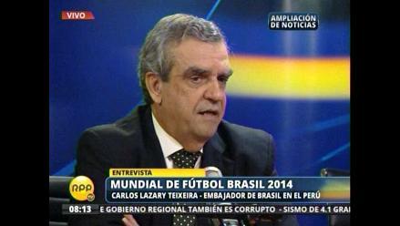 Embajador brasileño: Queremos hacer de esta copa la copa sudamericana