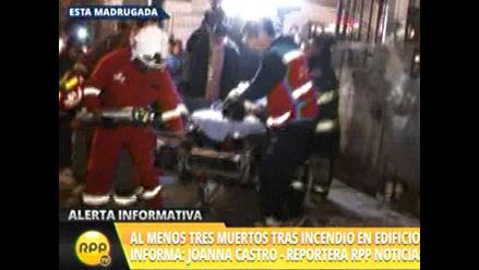 Tres personas murieron en un incendio en el Cercado de Lima
