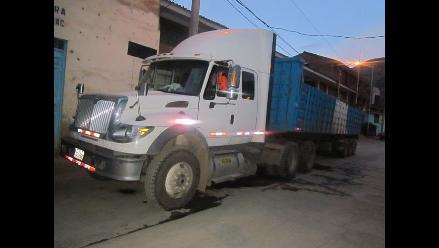 Áncash: intervienen 240 sacos con mineral ilegal en carretera
