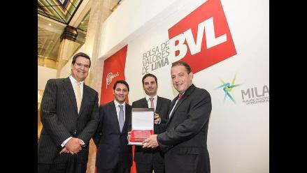BVL premia a Credicorp Capital por montos negociados en el MILA