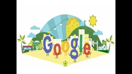 Google dedica un doodle al Mundial Brasil 2014 previo a su inauguración