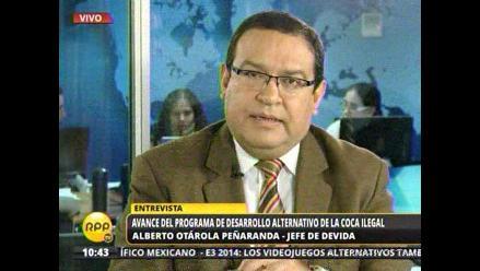 Perú redujo área de cultivo de hoja de coca a 49,800 hectáreas