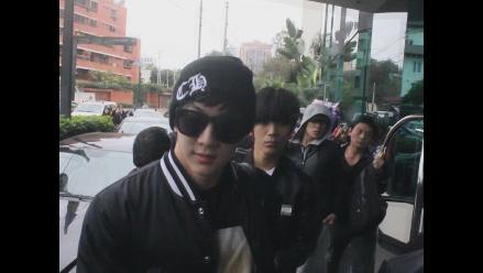 Banda K-pop ´MBLAQ´ llegó Lima