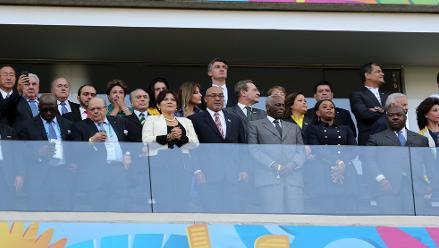 Bachelet, Correa y otras autoridades asistieron a inauguración de Mundial