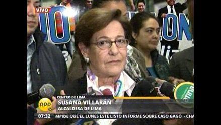 Villarán descarta pedir licencia para afrontar campaña electoral