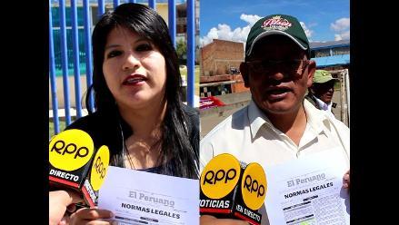 Huancayo: califican de traición publicación de reglamento Servir