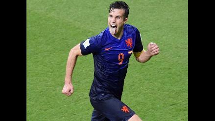Robin Van Persie hizo doblete y estableció el 4-1 para Holanda ante España
