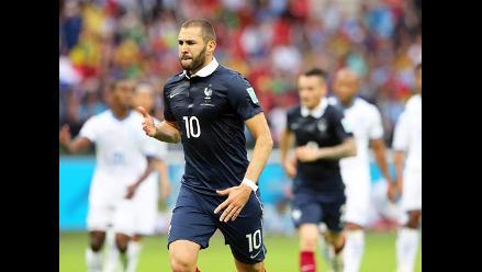 Karim Benzema y el primer gol de Francia ante Honduras en Brasil 2014
