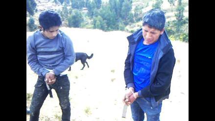 Huancayo: capturan a dos delincuentes cuando robaban a una pareja