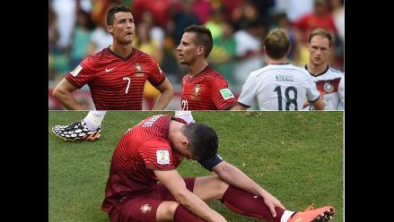 Las caras de impotencia Cristiano Ronaldo al perder goleado ante Alemania