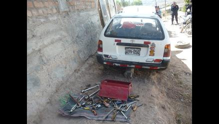 Ayacucho: PNP captura a banda que desmantelada vehículos robados