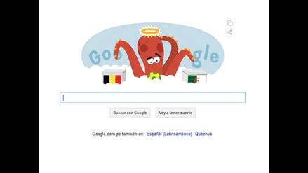 Google resucitó al pulpo Paul en forma de doodle en Brasil 2014