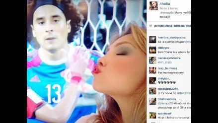 Thalía le pide matrimonio a Guillermo Ochoa por gran partido ante Brasil