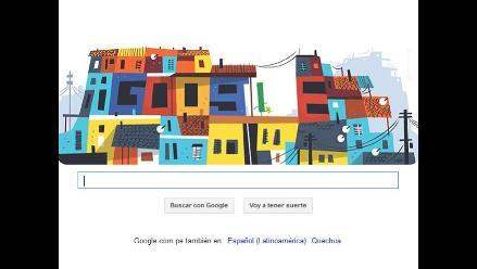 Google le dedica su nuevo doodle a las favelas brasileñas