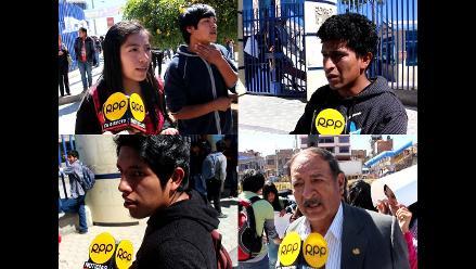 Huancayo: estudiantes en contra de la toma del local de la UNCP
