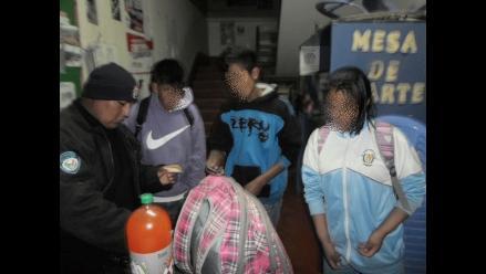 Huancayo: hallan a cuatro menores libando en un descampado de Huancan