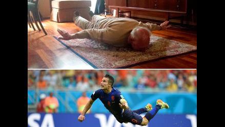 Brasil 2014: Abuelo de Van Persie imitó gol de su nieto a España