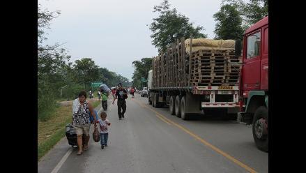 San Martín: transportistas de carga piden solución al paro en Juanjui