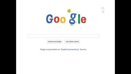 Google exhibe su doodle número 17 alusivo al Mundial Brasil 2014