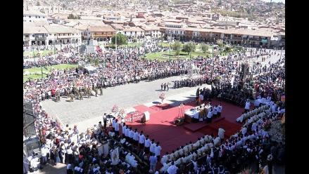 Cusco: fieles participaron en celebraciones del Corpus Christi