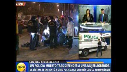 Preocupación y dolor en familiares de policía muerto al defender a una mujer