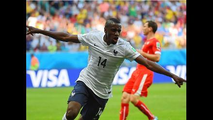 Brasil 2014: Blaise Matuidi pone el 2-0 a favor de Francia contra Suiza