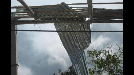 Lambayeque: fuertes vientos causaron estragos en casas de Incahuasi
