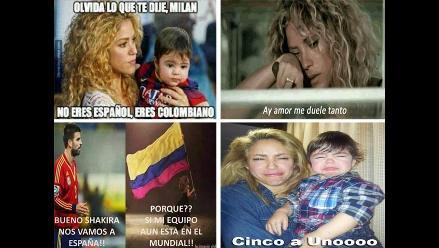 Mira los memes de Shakira y Piqué en el Mundial