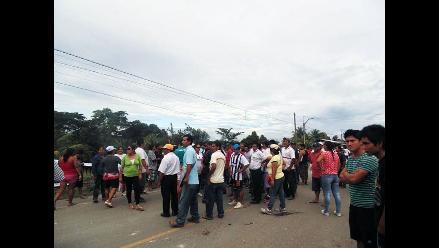 San Martín: enfrentamientos entre policías y manifestantes en Juanjui