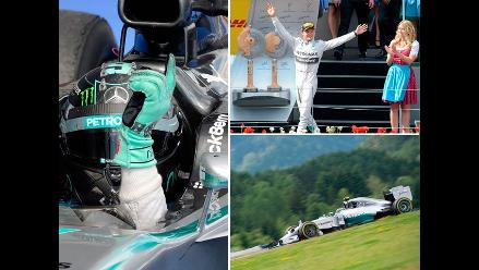 Fórmula Uno: La mejores postales de la victoria Rosberg en Austria