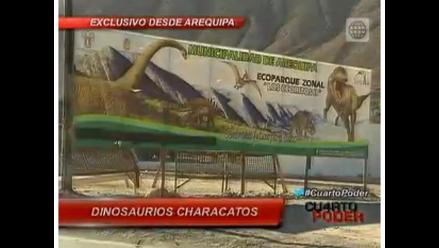 Arequipa: Parque de dinosaurio en zona que no tiene agua ni desagüe
