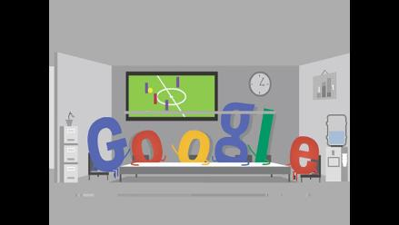 Doodle del lunes: empleados que miran el Mundial cuando el jefe no está