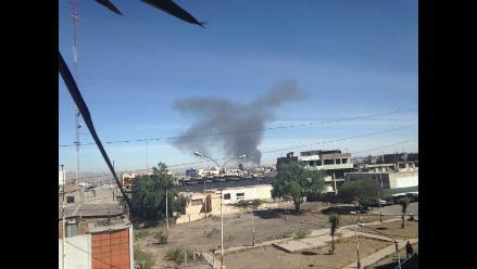 Arequipa: Cisterna de gas se incendia en la Variante de Uchumayo